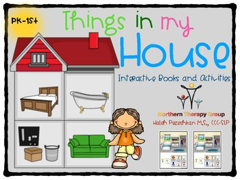 """Things in my House"" Interactive Books and Activities"