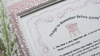 """""""Things to Remember Before Sitting Down at Your Desk"""" framed print (pink)"""