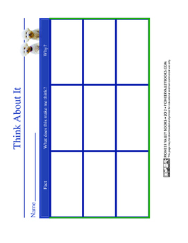 """Think About It"" Graphic Organizer for Nonfiction"