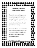"""""""Thinking Therapy""""- Generating Items in a Category (for adults)"""