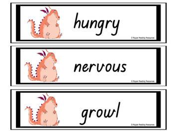 """""""This Hungry Dragon"""" rhyming words games and vocabulary activities"""