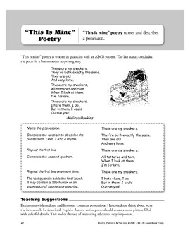 """""""This Is Mine"""" Poetry"""
