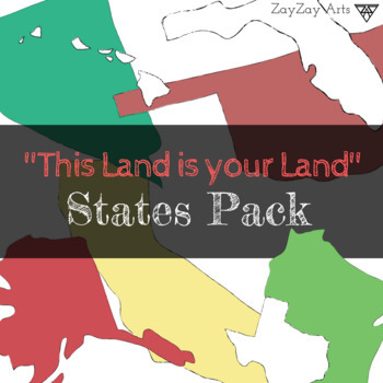 """This Land is Your Land"" States Clip Art Pack"