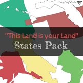 """""""This Land is Your Land"""" States Clip Art Pack"""