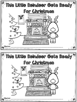 """""""This Little Reindeer"""" Emergent Reader (A Christmas/Decemb"""