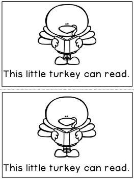 """This Little Turkey"" Emergent Reader (A Thanksgiving/November Dollar Deal)"