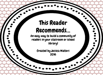 """""""This Reader Recommends"""" Bookmarks"""