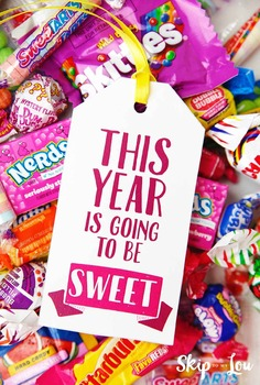 """""""This Year Is Going To Be Sweet"""" Gift Tags"""