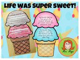 """""""This Year Was Super Sweet"""" End of Year Ice Cream Craftivity"""