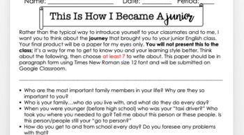 """This is How I Became a ____"" Great Introductory Writing Assignment!"