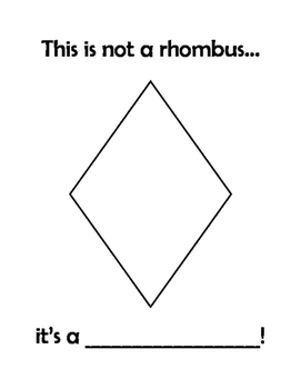 """This is not a...."" Shapes Writing Prompt"