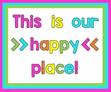 """""""This is our happy place"""" bulletin board letters"""