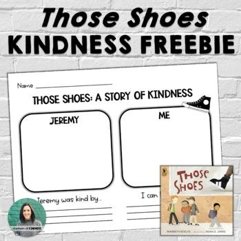 """""""Those Shoes"""" Kindness Worksheet FREEBIE"""