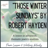 Those Winter Sundays Poem Study