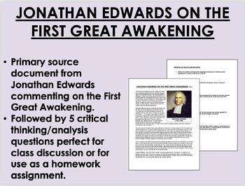"""Thoughts Concerning...Religion""-Jonathan Edwards-First Great Awakening-APUSH"