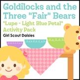 "...Three ""Fair"" Bears - Girl Scout Daisies - ""Lupe - Light Blue Petal"" (Step 3)"