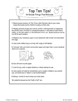 """Three Little Pigs"": Classroom Management"