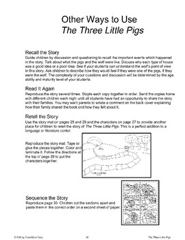 """Three Little Pigs"": Other Ways to Use the Story"
