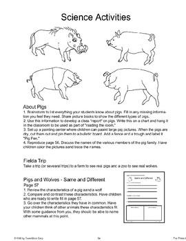 """Three Little Pigs"": Science Activities"