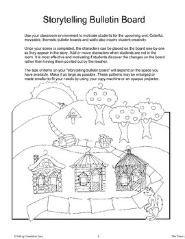 """Three Little Pigs"": Storytelling Bulletin Board"