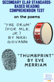"""""""Thumbprint"""" by E. Merriam & """"The Drum"""" by N. Giovanni Poetry Reading Test"""