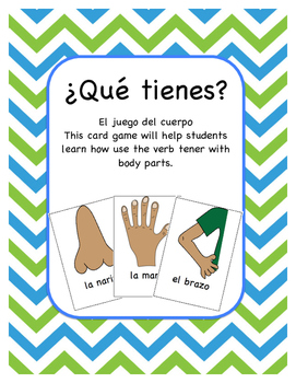 ¿Tienes ___? Card Game with Body Part Words