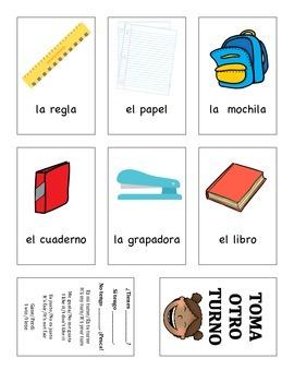 ¿Tienes ___? Card Game with School Supply Words
