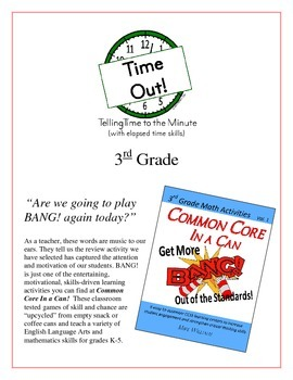 """Time Out!"" Telling Time to the Minute 3rd Grade Game Packet"