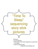 """Time To Sleep"" by Denise Fleming- Sequencing Stick Speech Therapy Ideas"