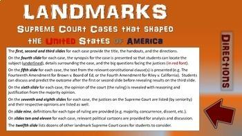 -Tinker v  Des Moines- Landmark Supreme Court Case (PPT, handouts & more)