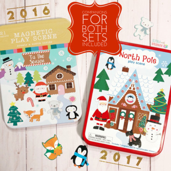 'Tis the Season Magnetic Play Scene Speech & Language Companion