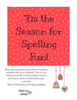 Christmas - 'Tis the Season for Spelling Fun!