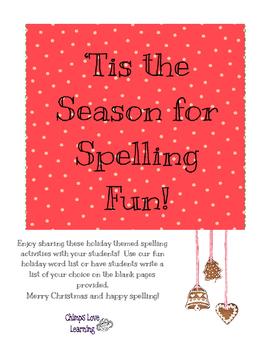 Christmas - 'Tis the Season for Spelling Fun!