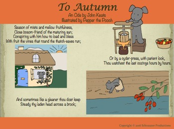 """To Autumn"" by John Keats, Illustrated by Pepper the Pooch"
