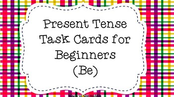 """To Be"" Present Tense Task Cards for Beginners"