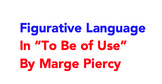 """""""To Be of Use"""" Marge Piercy Figurative Language Central Idea Lesson Plus Handout"""
