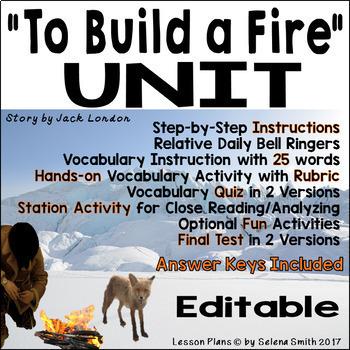 """""""To Build a Fire"""" Unit - Jack London"""