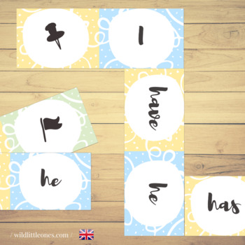 """""""To Have"""" and """"To Be"""" Domino Game ⎜Verbs Domino Game and Posters"""