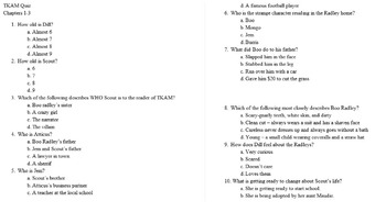 """To Kill a Mockingbird"" Chapter Quizzes"