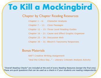 To Kill a Mockingbird - Reading Resources Bundle