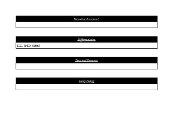 Free Template for Unit Design