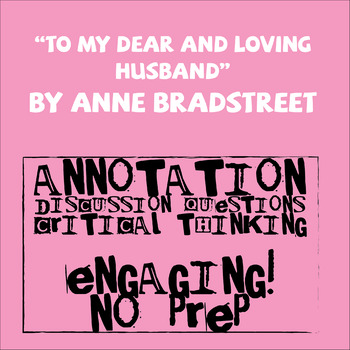 to my dear and loving husband anne bradstreet analysis