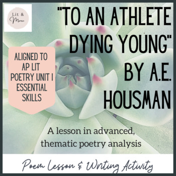 """To an Athlete Dying Young"" Poem Study"