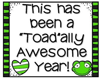 """""""Toad""""ally Awesome Year"""