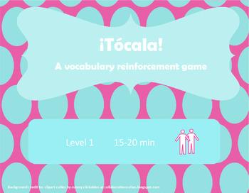 ¡Tócala! Así Se Dice Chapter 7 Vocabulary Reinforcement Game