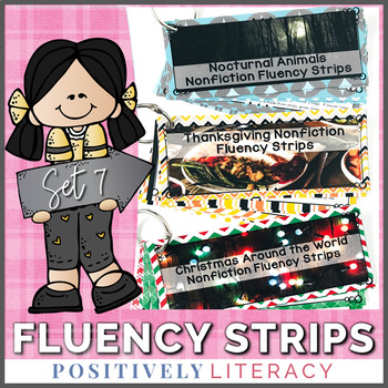 Fluency Strips ~ Fluency Practice for 2nd & 3rd Grades Set 7