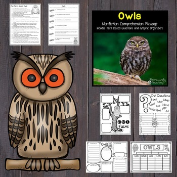 Owls Reading Passage Nonfiction Text & Questions