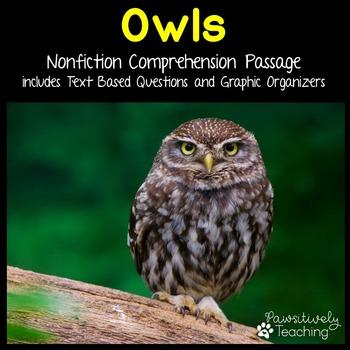 Owls Reading Passage Nonfiction Text & Questions
