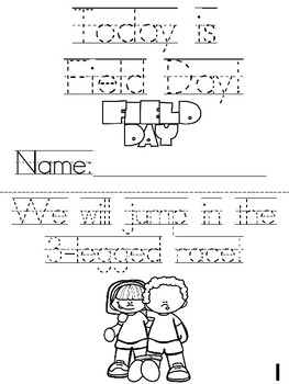"""""""Today is Field Day!"""" Cut, Trace, and Color Printable Book!"""