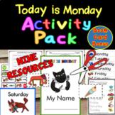 """Today is Monday"" Mini-Book PLUS SEVEN ACTIVITIES"